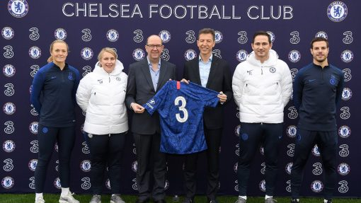Three x Chelsea FC Sponsorship image
