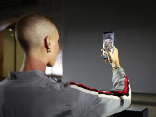 Adwoa Aboah on 5G phone image