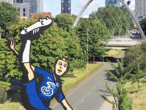 Artist transforms Chelsea FC Women heroes using unique paper cut-outs image