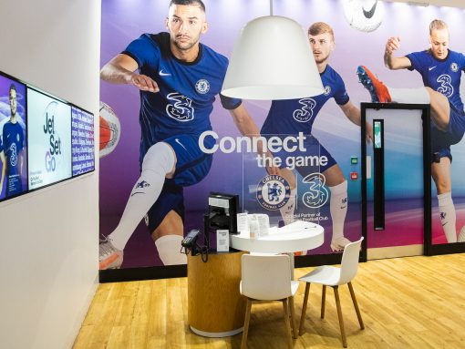 Blue is the colour! Three UK gives its Fulham Broadway store a bespoke Chelsea FC transformation image